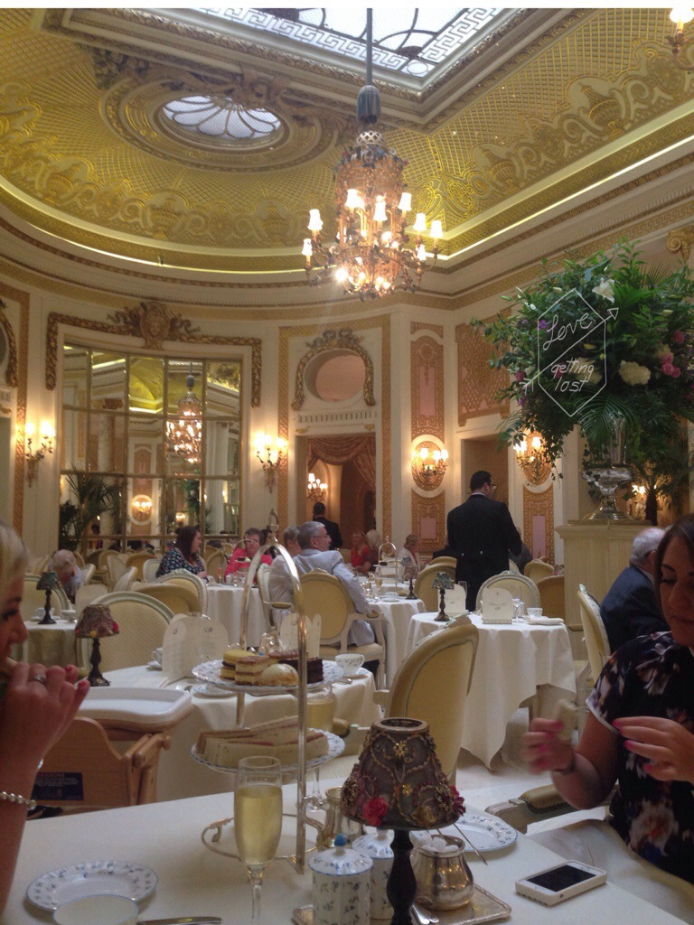 Palm court at the Ritz London England