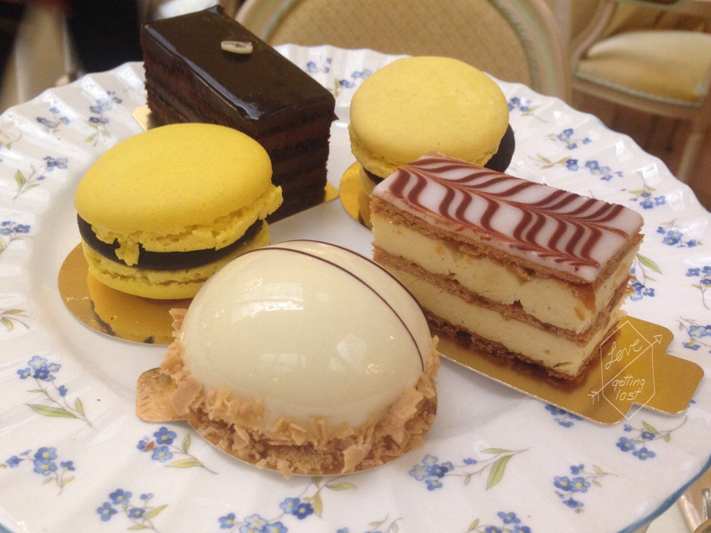 Cakes at the Ritz London high tea England