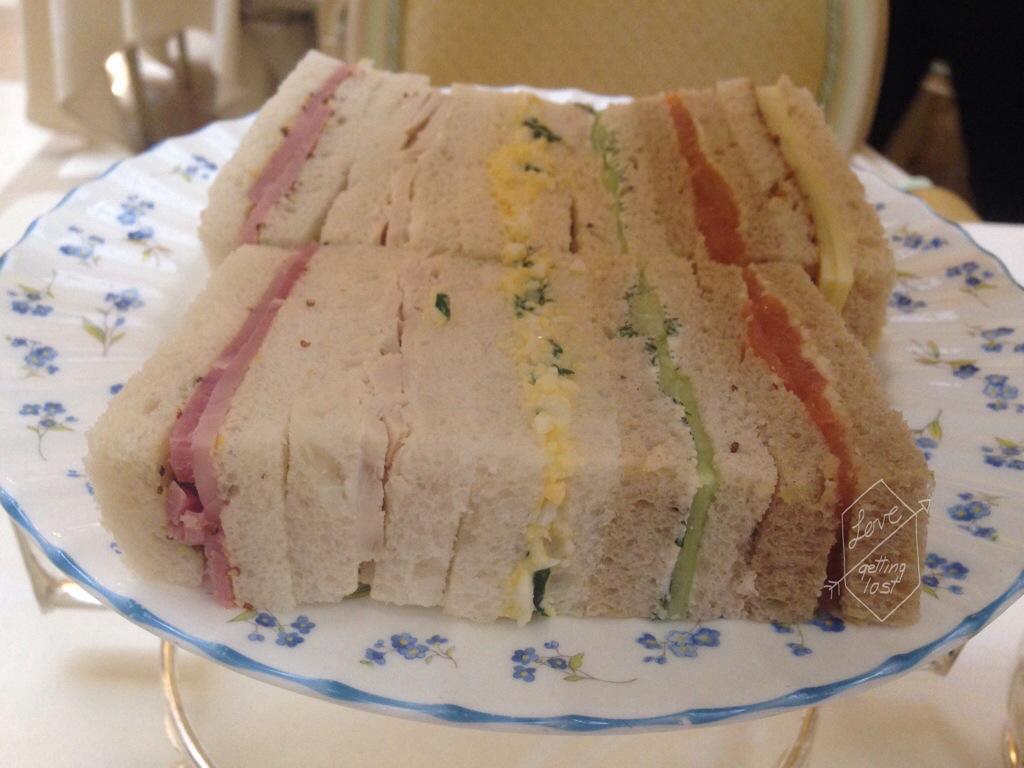 sandwiches at the Ritz London high tea England