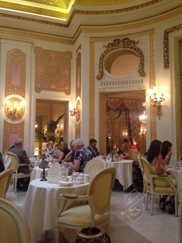 Palm court high tea at the Ritz London England