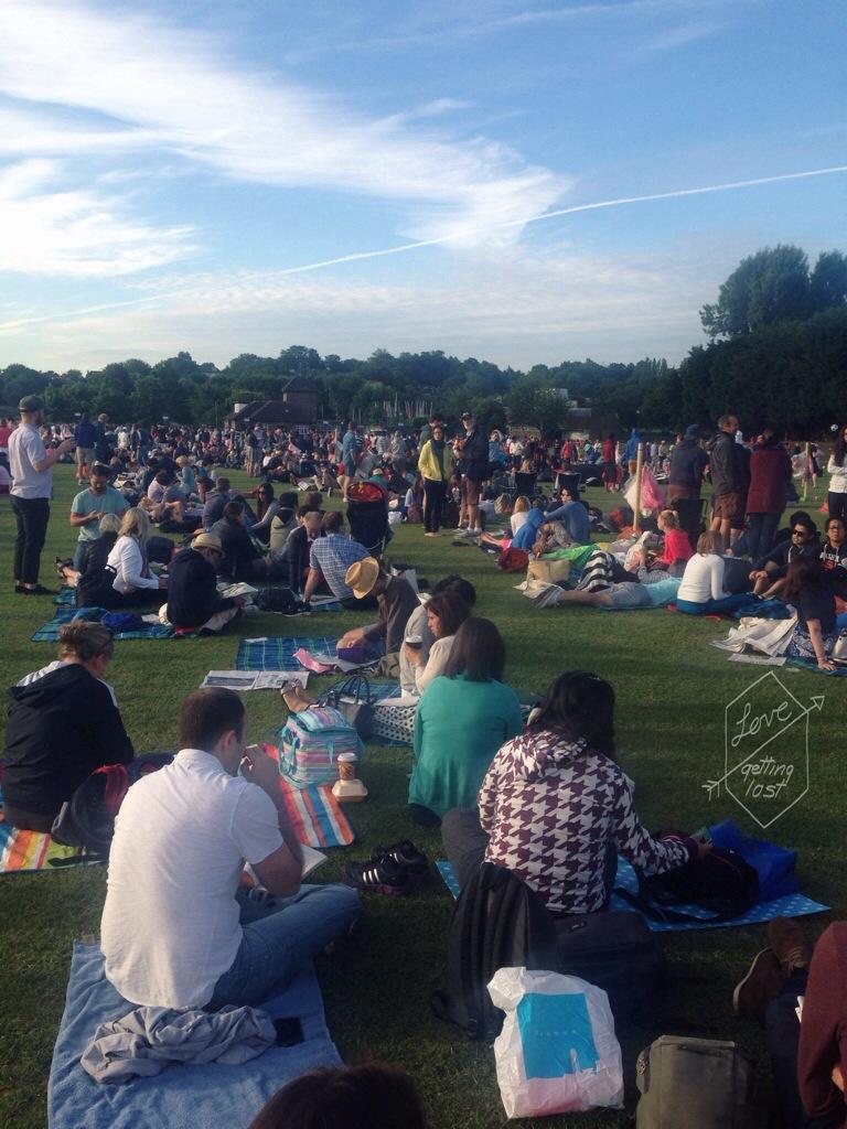 the queue Wimbledon london england