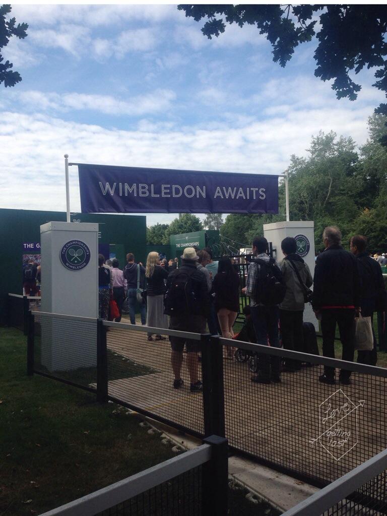 Wimbledon Awaits the queue wimbledom London England