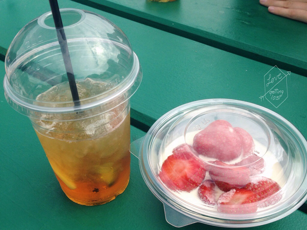Pims Cup and Strawberries and cream Wimbledon London England