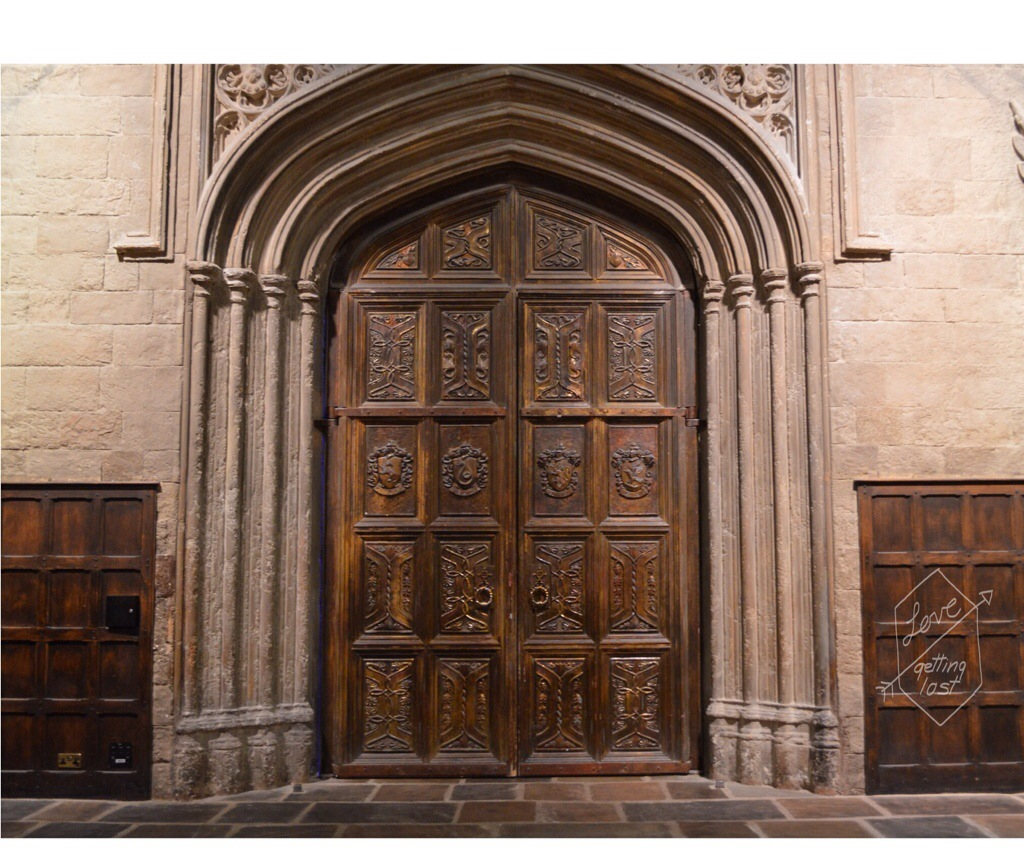 Great Hall entrance doors Hogwarts Harry Potter Studio tour  Watford England