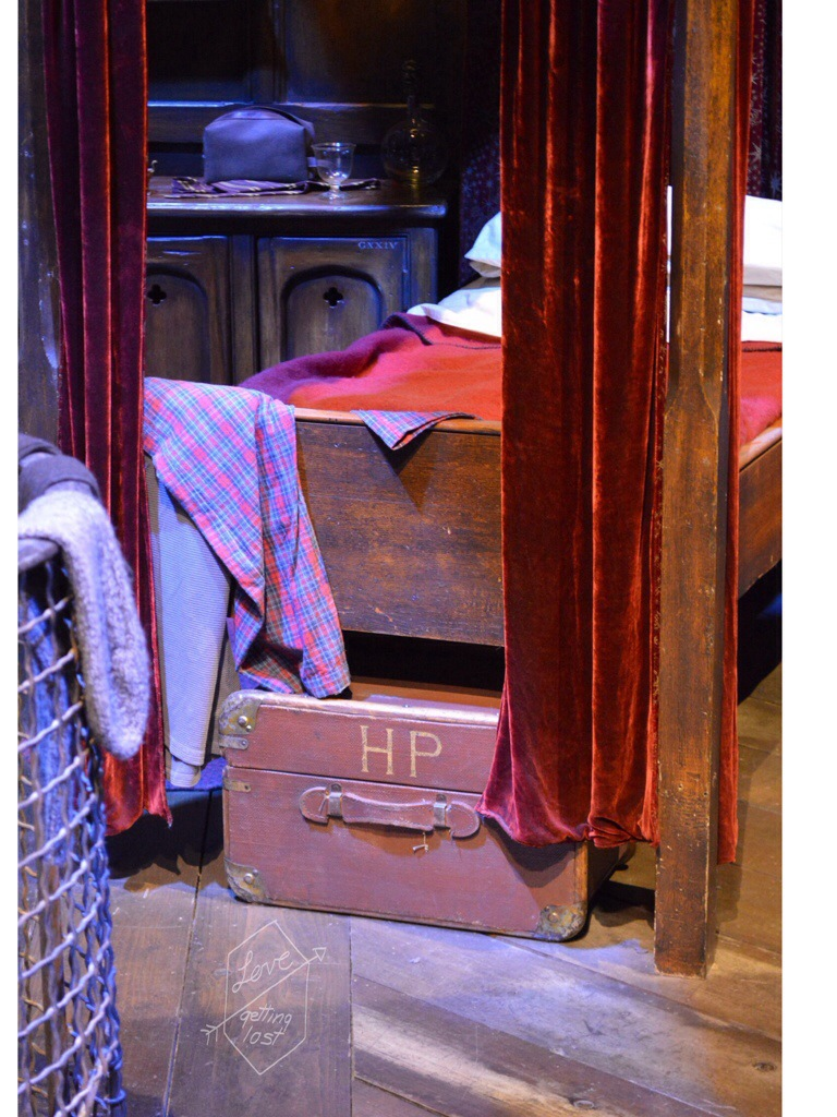 Harry Potters dorm bed Harry Potter studio tours Watford England