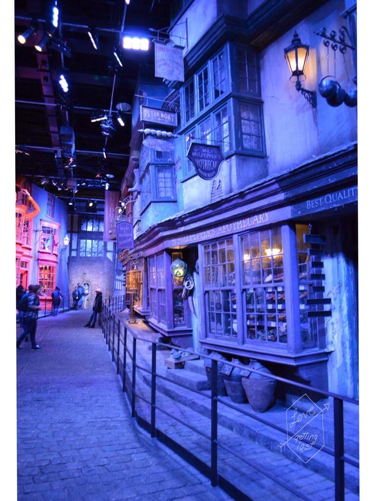 Diagon Ally Harry Potter studio tour Watford England