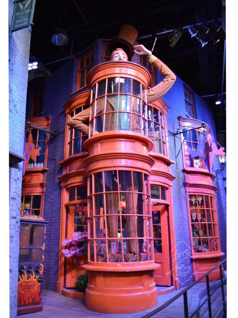 Weasleys' Wizard Wheezes shop Harry Potter studio tour Watford England