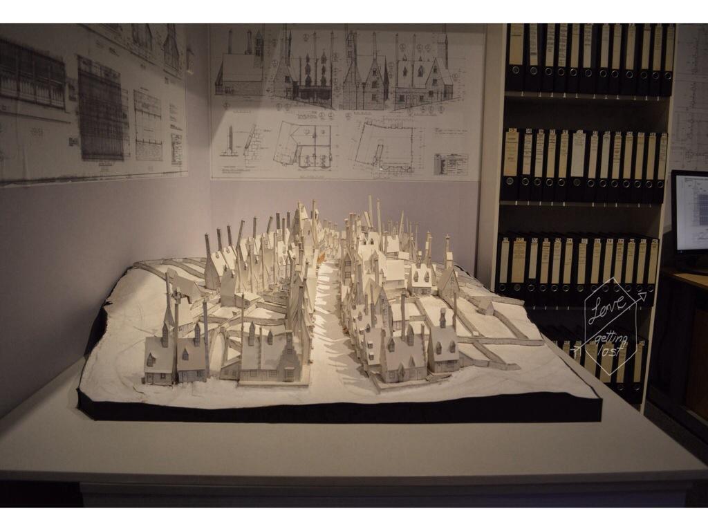 paper model of hogsmeade Harry Potter studio tour Watford England