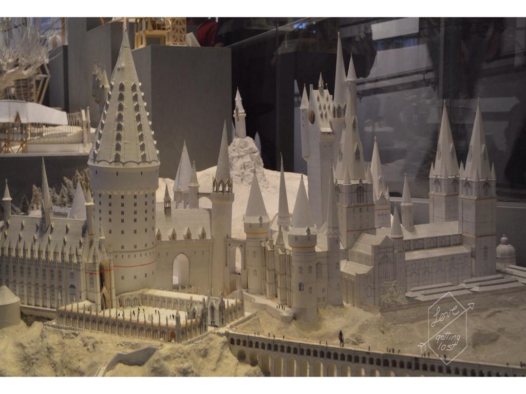 paper model hogwarts Harry Potter Studio tour Watford England