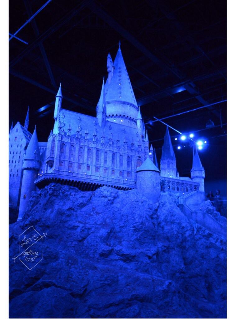 Model of Hogwarts Harry Potter Studio tour Watford England