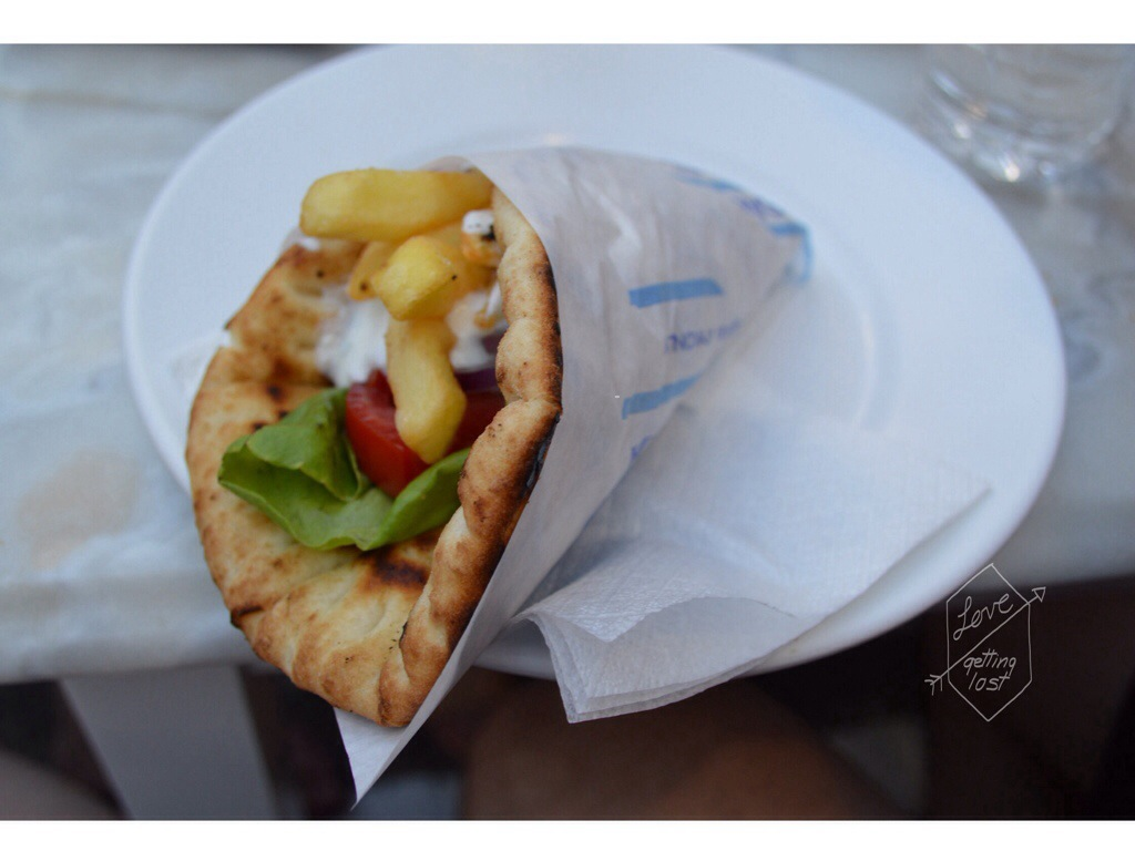 Gyros in Mykonos Greece