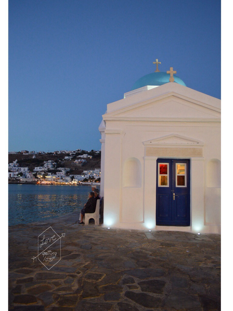 Mykonos Church in little Venice Greece