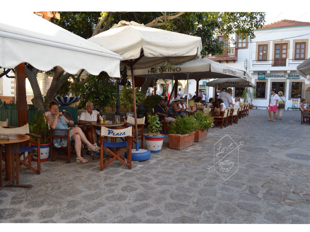 Patmos Island main square Greece