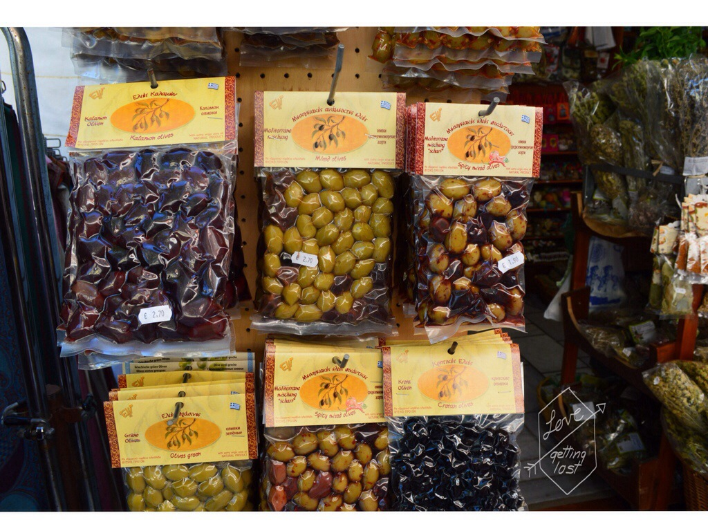 olives for sale Crete markets Greece