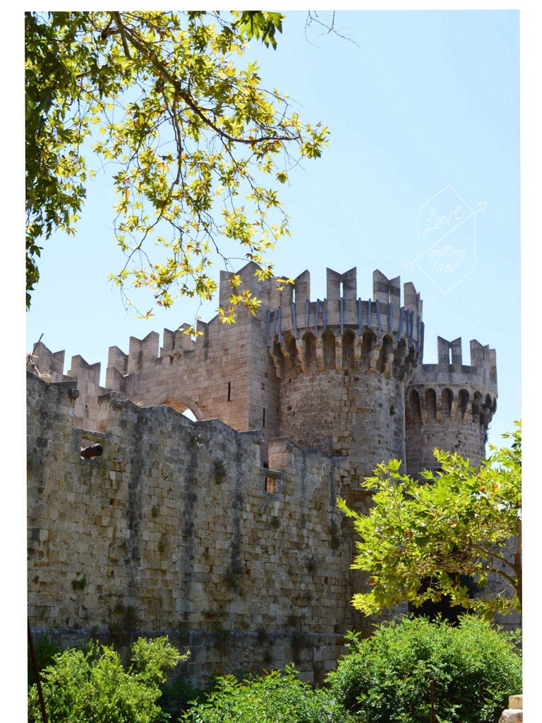 castle Medieval Town of Rhodes Greece