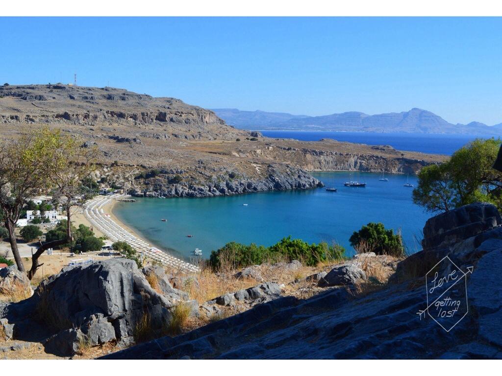 Lindos bay Rhodes Greece