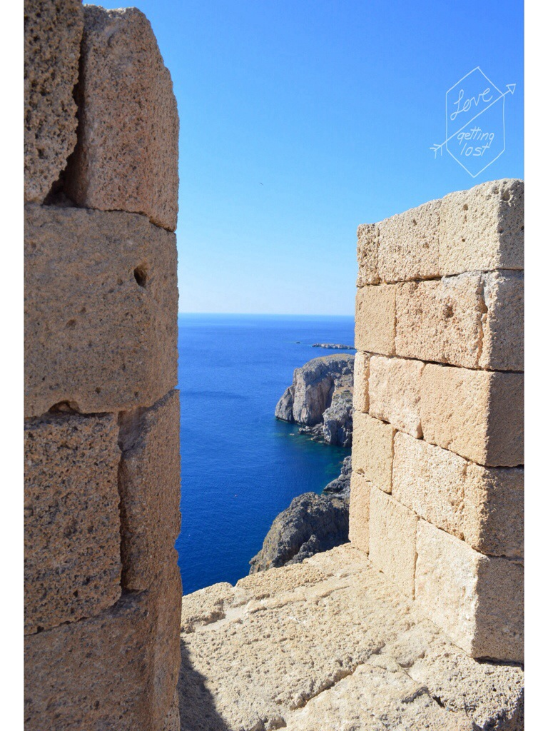 St Johns' fort Lindos Rhodes Greece