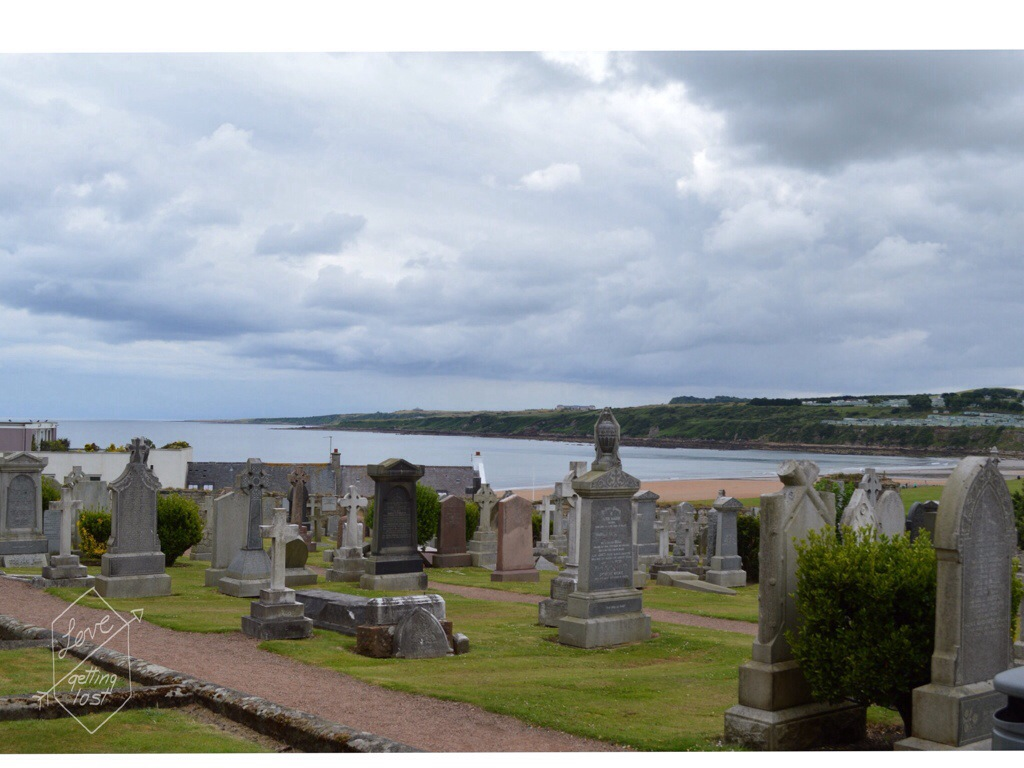 St Andrews cathedral seaside grave yard Scotland