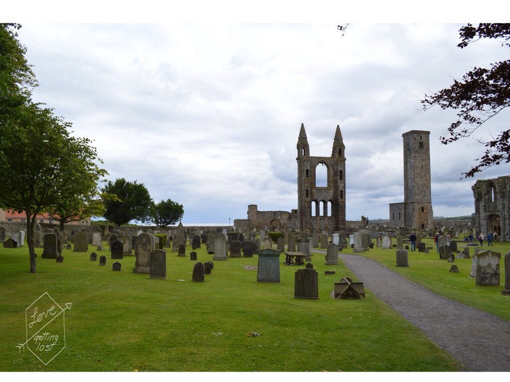 St Andrews cathedral grave yard Scotland