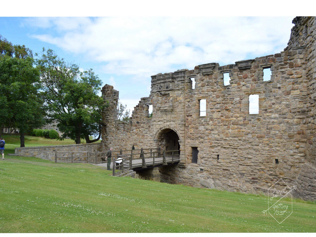 St Andrews castle main entrance Scotland