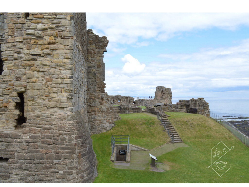 St Andrews castle seaside Scotland