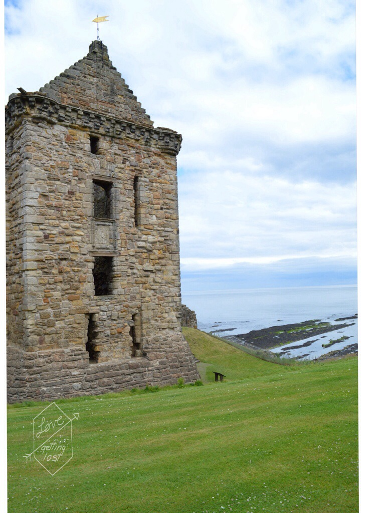 St Andrews castle tower Scotland