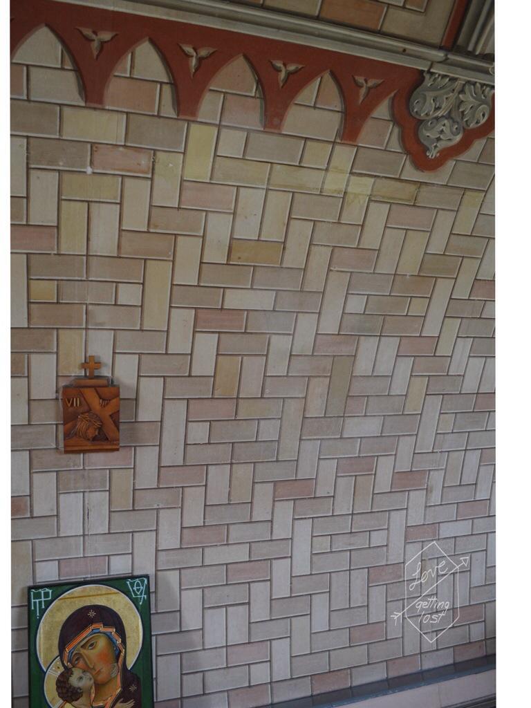 brick detail the Italian Chaple Orkney Islands Scotland