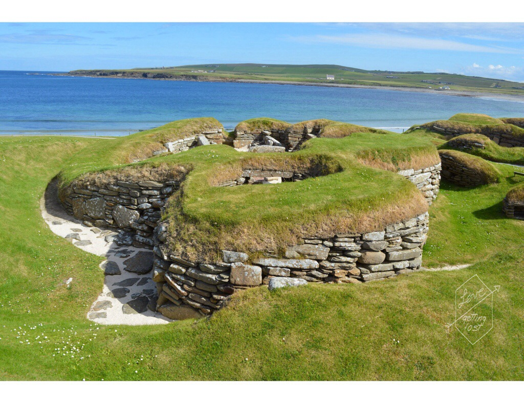 Skara Brae neolithic community of houses, orkney islands, Scotland