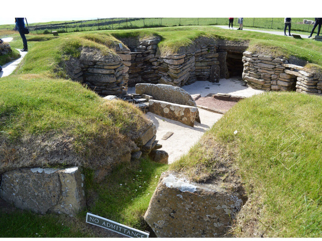 Skara Brae entrance, orkney islands, Scotland