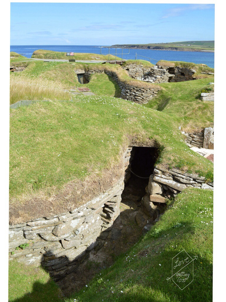 Skara Brae neolithic living by the sea, orkney islands, Scotland