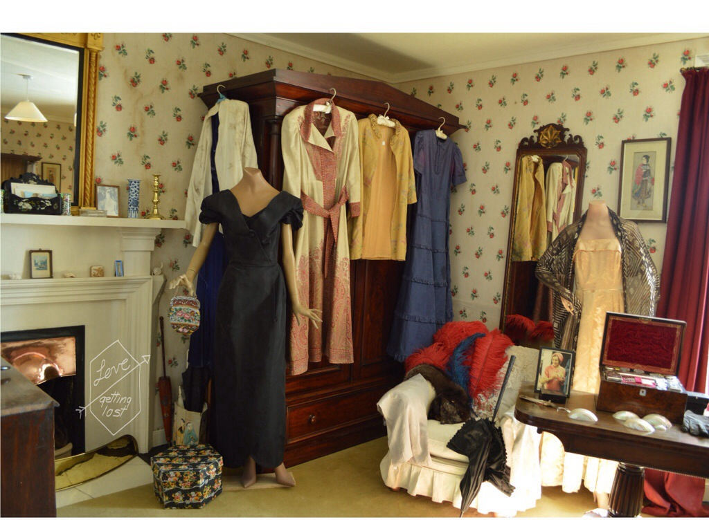Skaill house main bedroom dress collection, Orkney Islands, Scotland
