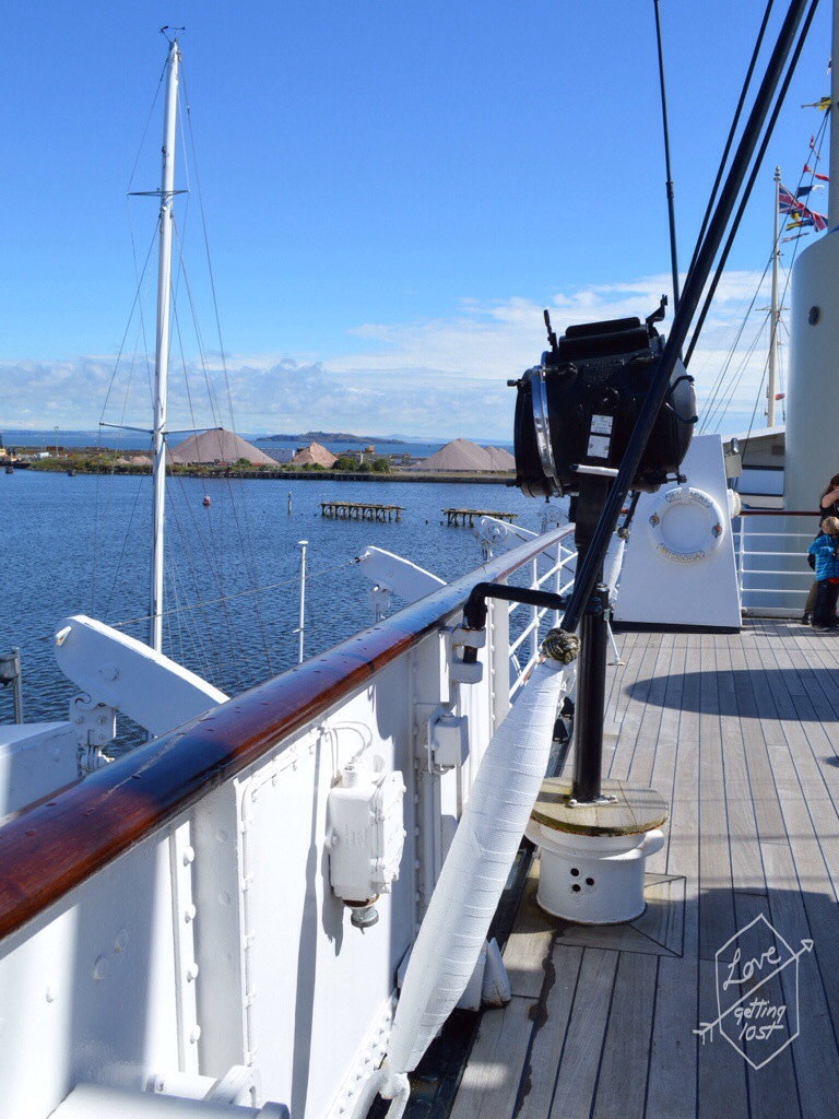 Deck of the Royal Yacht Britannia, Edinburgh, Scotland, United Kingdom