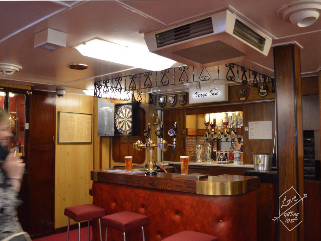 Officers bar, Royal Yacht Britannia, Edinburgh, Scotland, United Kingdom