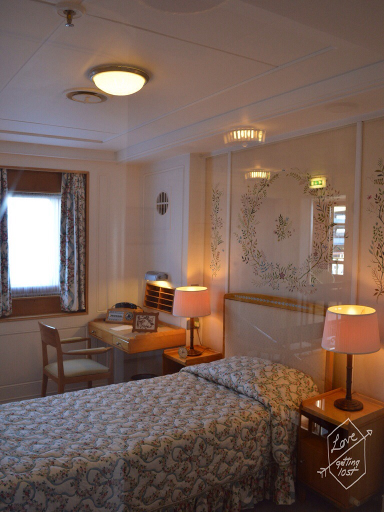 Queen Elizabeth II bedroom, Royal yacht Britannia, Edinburgh, Scotland, United Kingdom