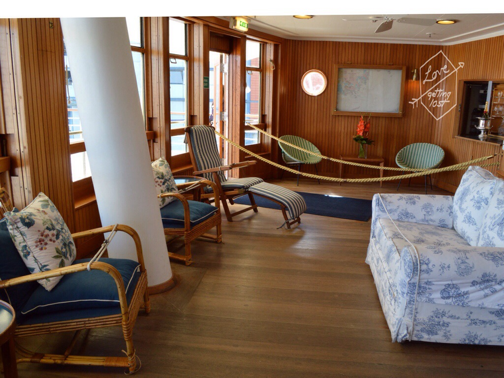 Sun lounge Royal yacht Britannia, Edinburgh, Scotland, United Kingdom