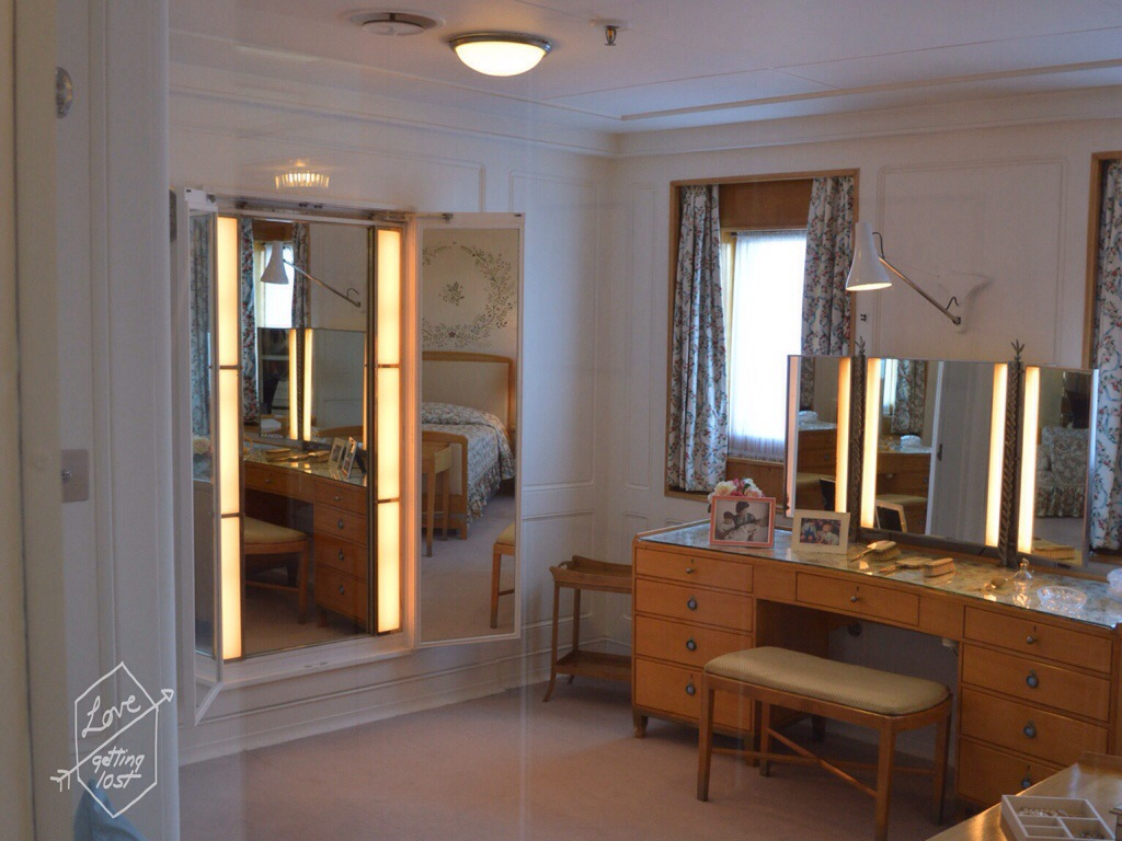 Queen Elizabeth II bedroom, Royal yacht Britannia, Edinburg,h Scotland, United Kingdom