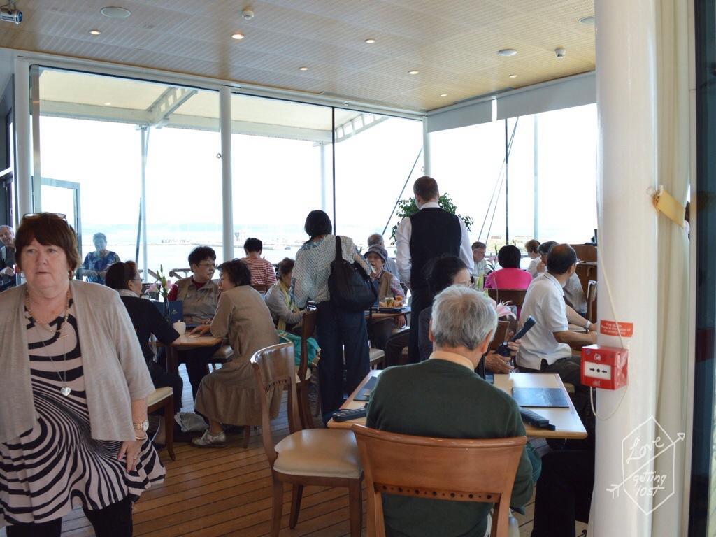 Tea Room,Teak Deck, Royal Yacht Britannia, Edinburgh, Scotland, United Kingdom