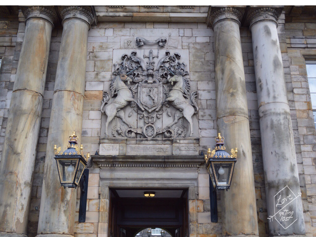 Crest at the Entrance of the Palace, Holyrood Palace, Edinburgh, Scotland