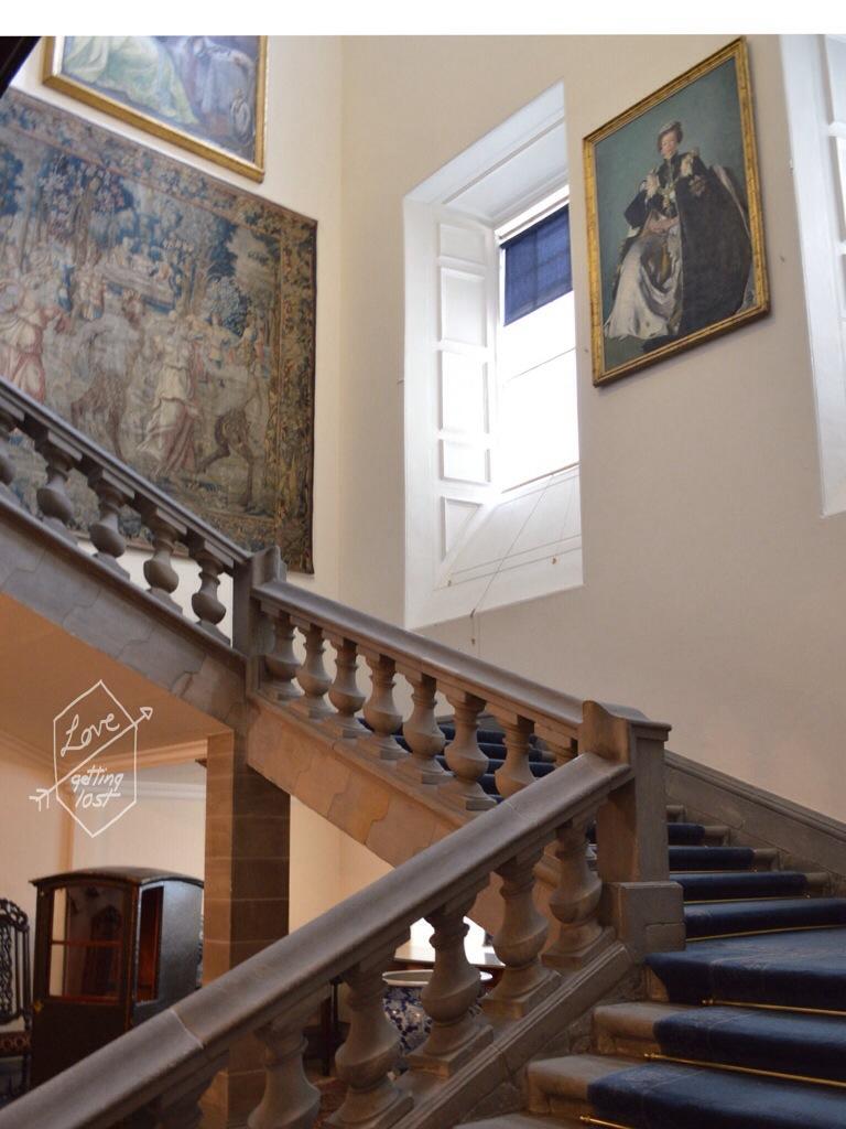 Main stair case state apartments,Holyrood Palace, Edinburgh, Scotland