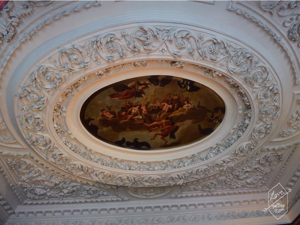 Ceiling rose state apartments ,Holyrood Palace, Edinburgh, Scotland