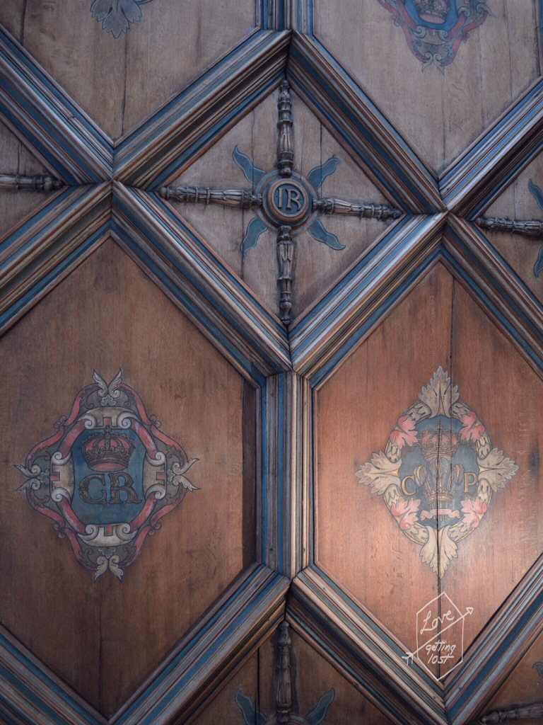 Ceiling Panels in Mary Queen of Scots Apartment ,Holyrood Palace, Edinburgh, Scotland