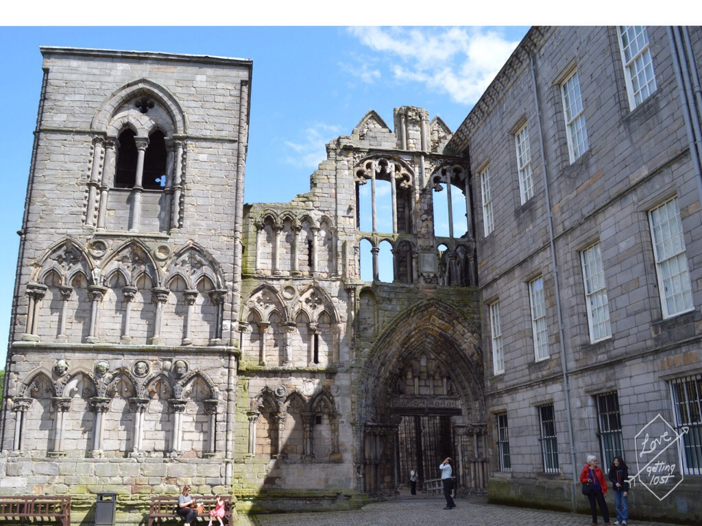 Holyrook Abbey Entrance, Holyrook palace, edinburg, scotland, united kingdom