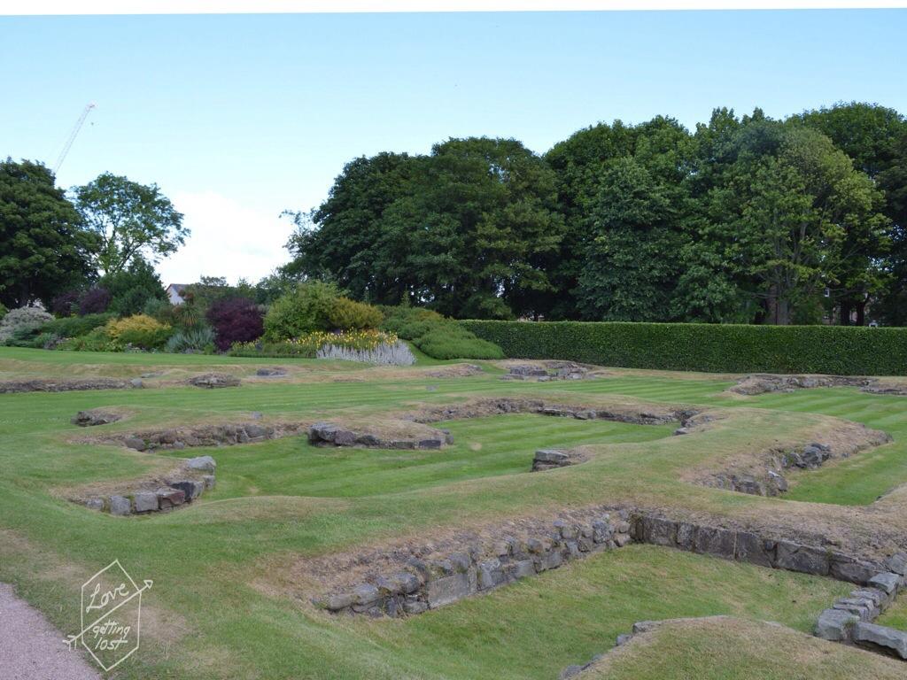 excavated section of Holyrook Abbey, Holyrook palace edinburg, scotland, united kingdom