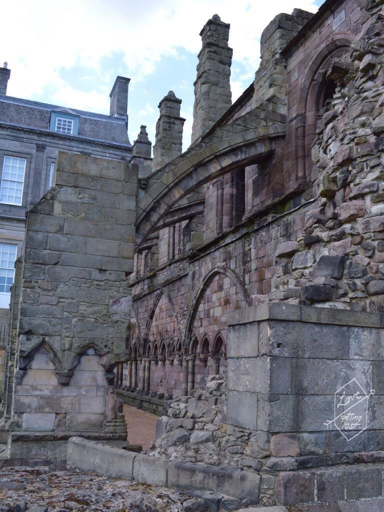 Holyrook Abbey walls , Holyrook palace, edinburg, scotland, united kingdom