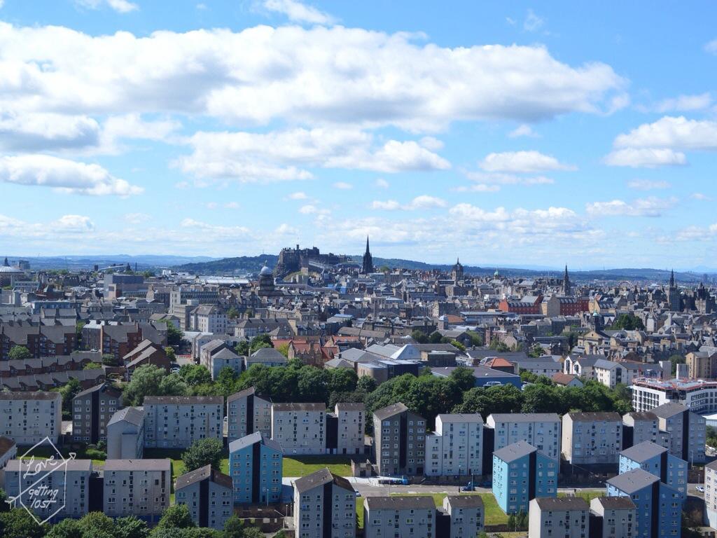 View of Edinburgh from walk to Arthur's seat, Scotland, United Kingdom