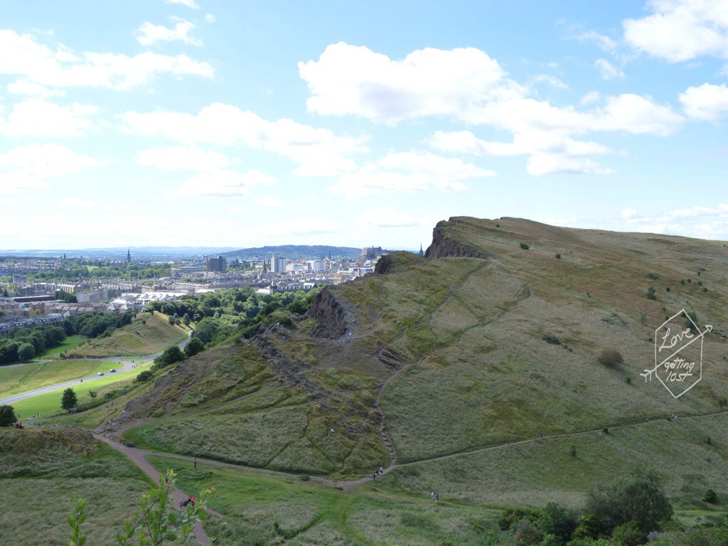 Views from the walk to Arthur's seat , Edinburgh, Scotland, United Kingdom