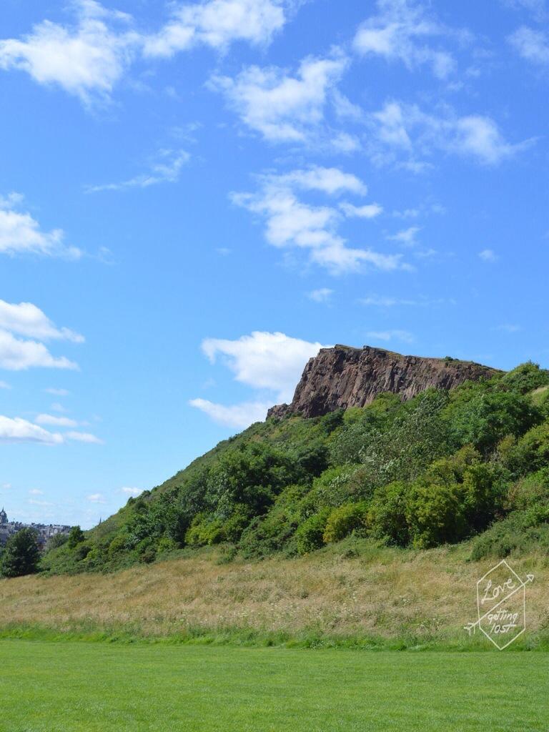 Cliffs around Arthur's seat  , Edinburgh, Scotland, United Kingdom