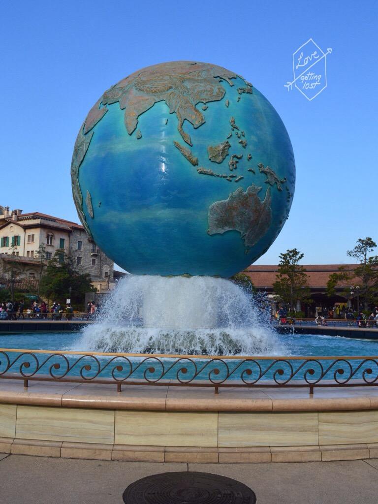 Disney Sea Plaza Globe, Disneyland Sea, Tokyo, Japan