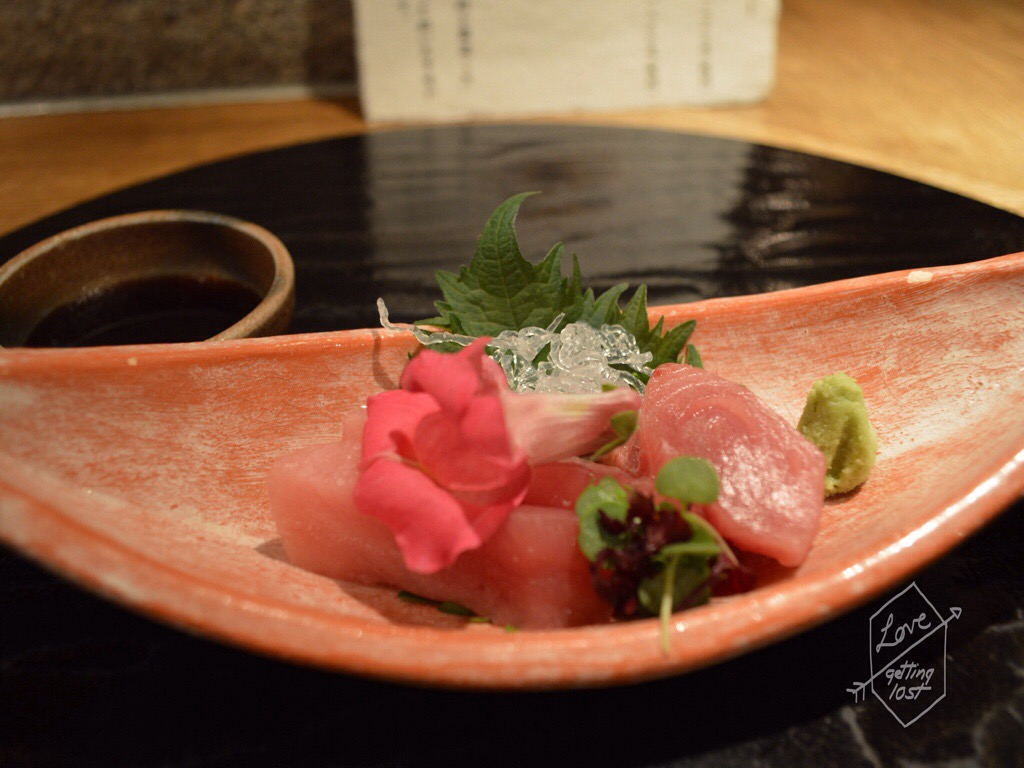 Course three, Gion Karyo, Sashimi, GIon, Kyoto, Japan