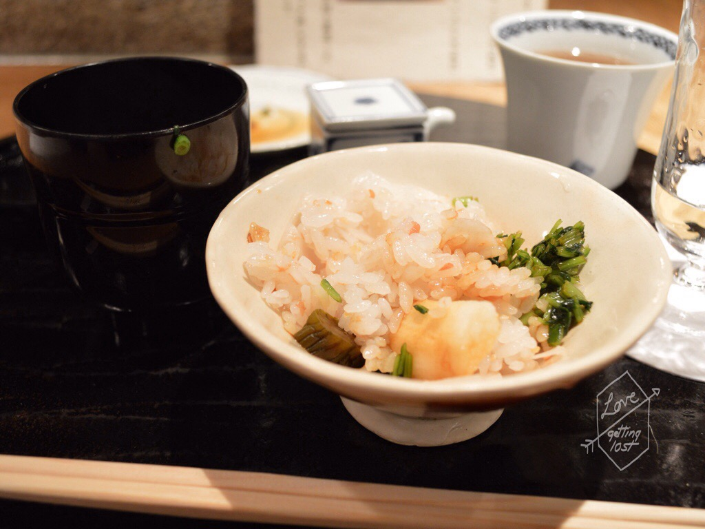 Course seven, Gion Karyo, Steamed rice, Gion, Kyoto, Japan